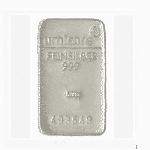 500 grams umicore silver bar