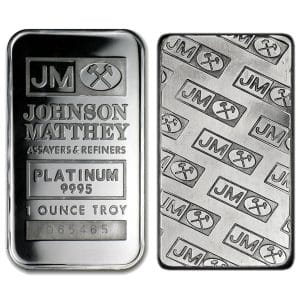 1 ounce silver bar front and back