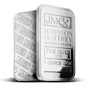 1 ounce silver bar johnson matthey