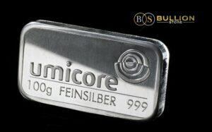 100 Gram Umicore Silver Bar