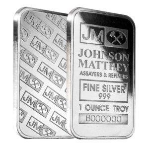 Johnson Matthey's 1 ounce silver bar