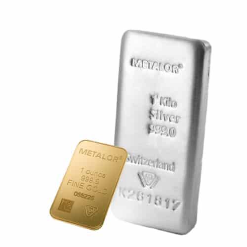 1ounce gold and 1kilo silver metalor