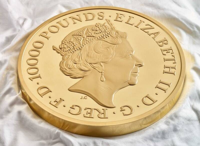 9.5 kg gold coin by Royal Mint